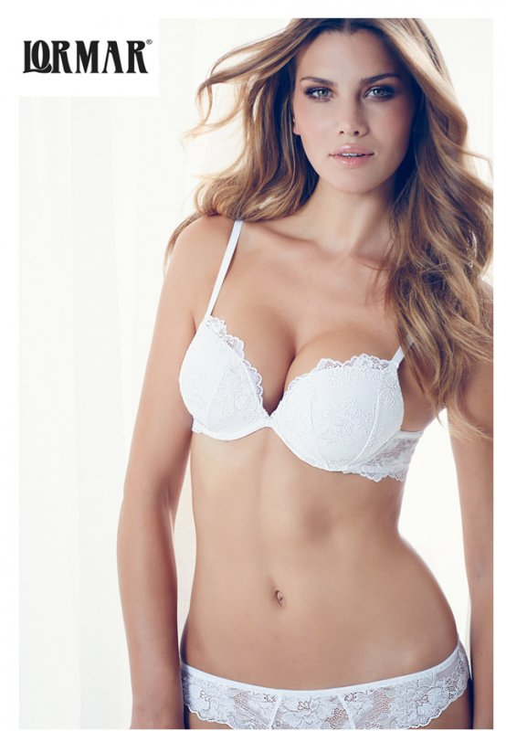 Lormar podprsenka double Push-up My double pizzo bílá | Vermali.cz